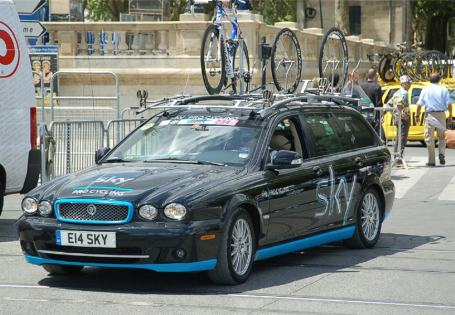 Team Sky roll up.