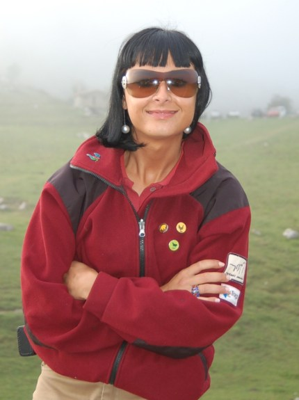 "This lovely lady was the security at the top of the mountain: ""Why do you want to take pictures? There's nothing here!"""