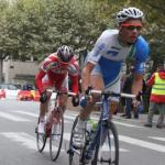 Dimitri Claeys hurtles round Paris, towards third place.