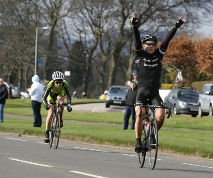 James took his first win for Rapha-Sharp. Image:©Alister Watt