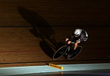 Shane in the Men's Omnium Individual Pursuit at Manchester. Image Bryn Lennon/Getty Images Europe