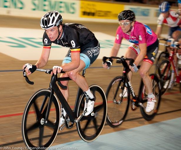 Iljo Keisse leads Alex Aeschbach.