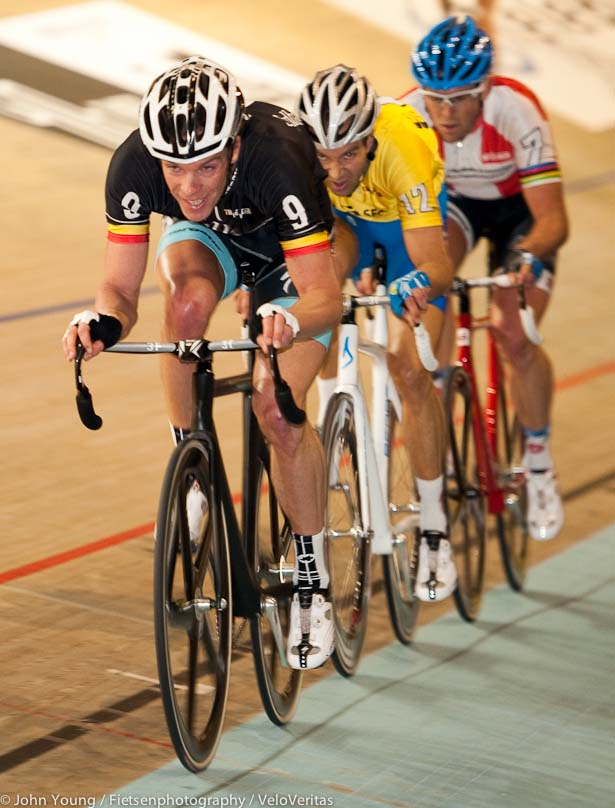 Keisse Stam and Rasmussen going for a lap.