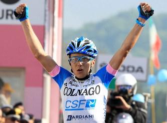 Domenico Pozzovivo celebrates.