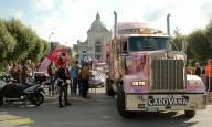 The Giro caravan.