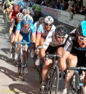 Cav's there, with a couple of teammates.