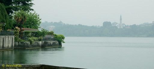 Pusiano, lakeside, beautiful - pity about the rain and mist.