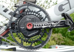 We spotted the Rotor setup on Iain's bike.