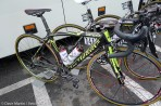 Damiano Cunego's Wilier awaits his majesty. Damiano finished in 13 place.