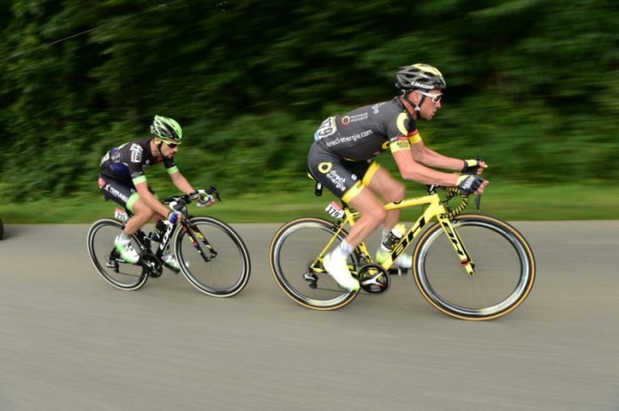 Thomas Voeckler bridged a five minute gap in quick order. Photo©ASO/A.Broadway