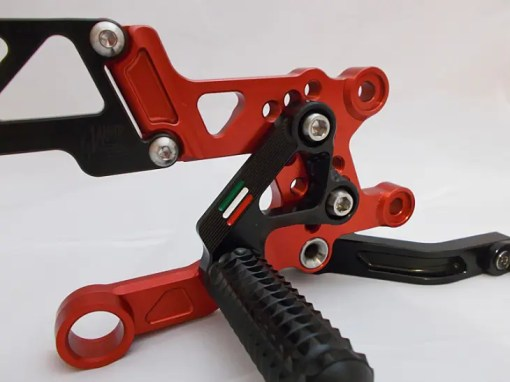 RSV4 Red and Black Rearsets