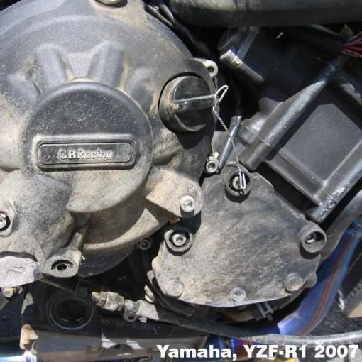 EC-R1-2007-2-GBR YZF-R1 GEARBOX / CLUTCH COVER 2007 - 2008 Brands-CRASH-R1-1-640