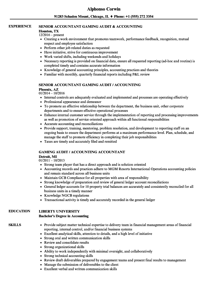 Accounting Amp Audit Resume Samples Velvet Jobs