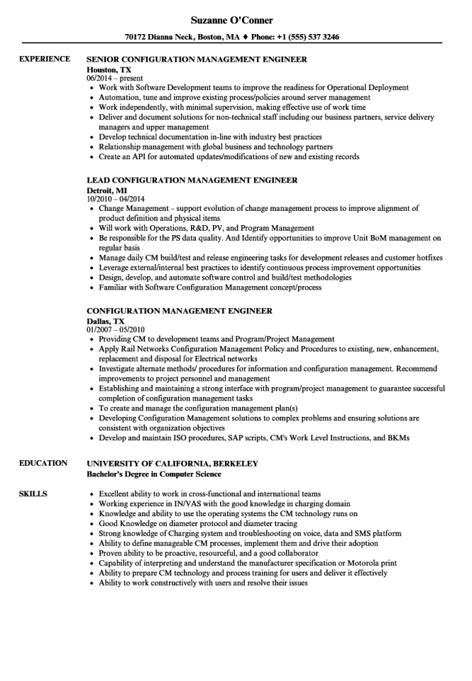 configuration manager resume