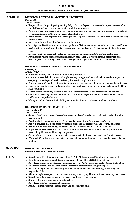 Salesforce Architect Resume Sample March 2021
