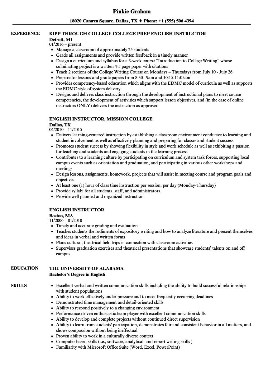 Esl Certification Resume