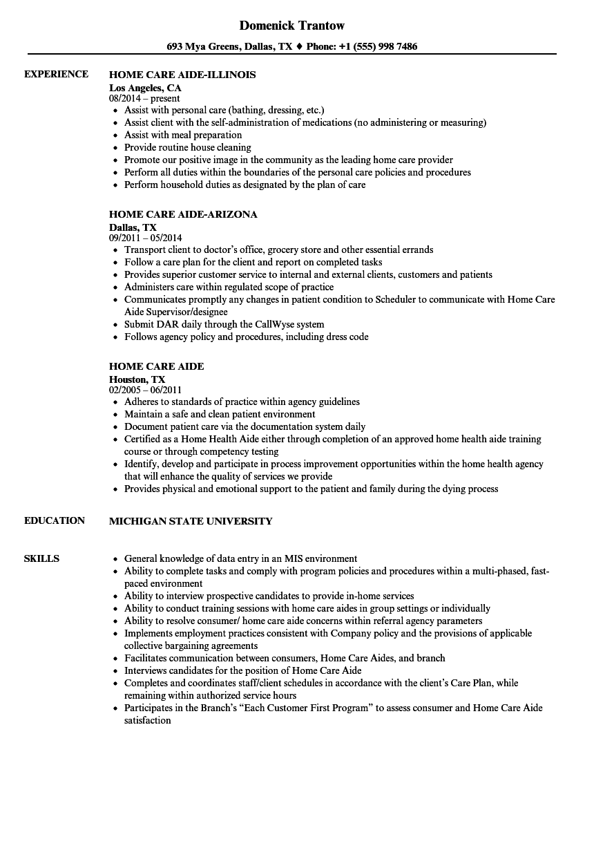 Certified Nurse Aide Job Description Sample