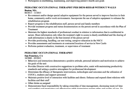 Free Resume 2018 » occupational therapist education requirements ...