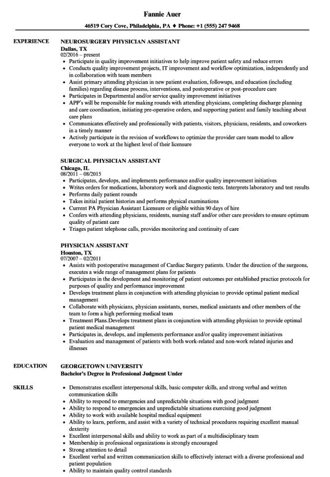 Physicians Resume - Resume Sample
