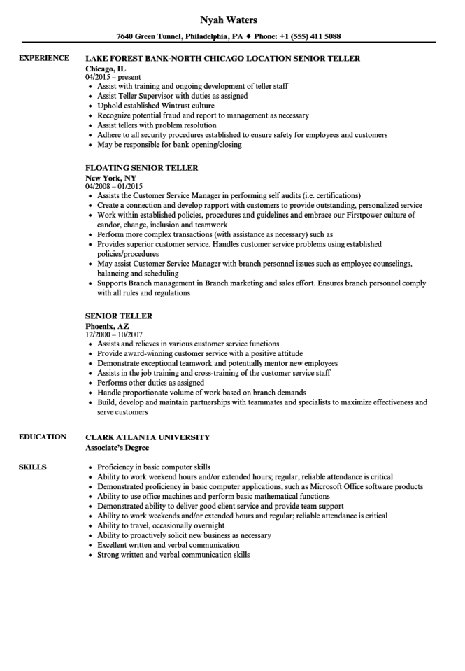 Resume about bank teller cheap admission paper writing website