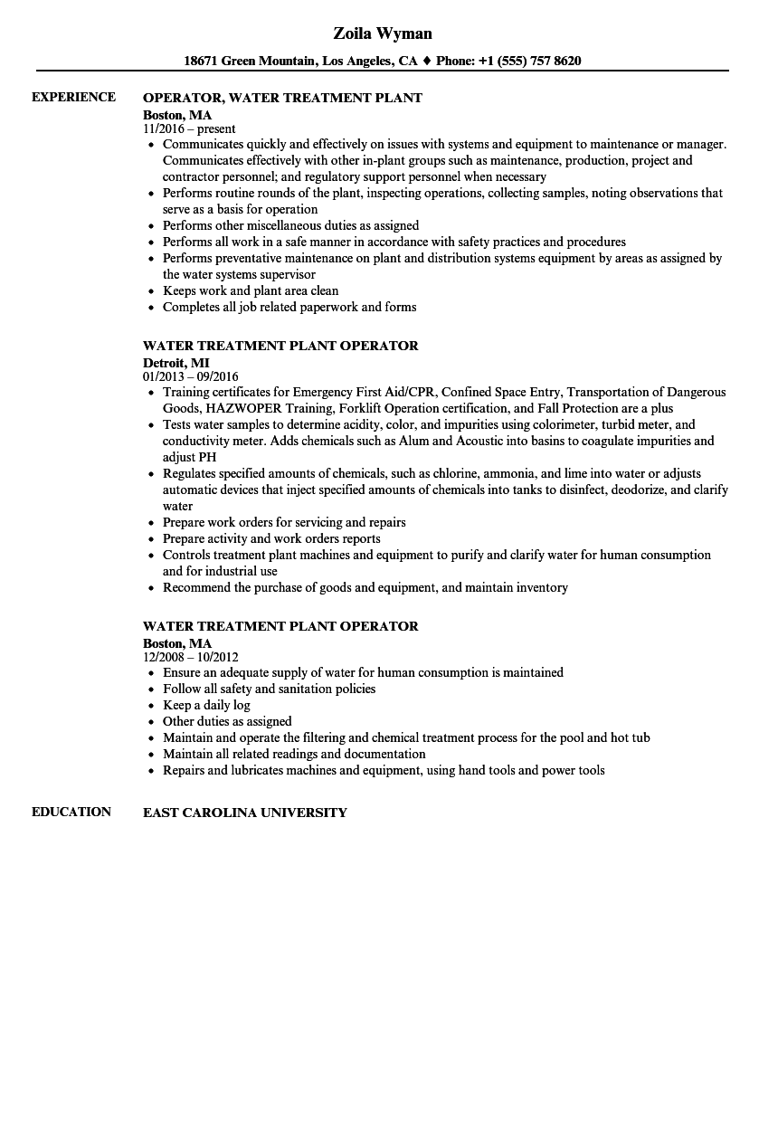 Oilfield Production Operator Resume