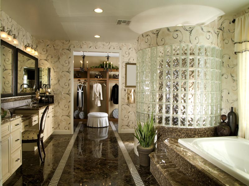 Maroon emperador tile and mosaic for bathroom