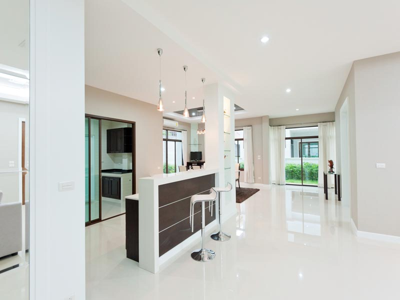 crystal white tiles used on the floor