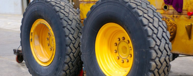 Image of VEMA managed Heavy Equipment showing large black and yellow wheels