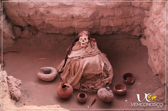 Múmia no Cemintério Chauchilla