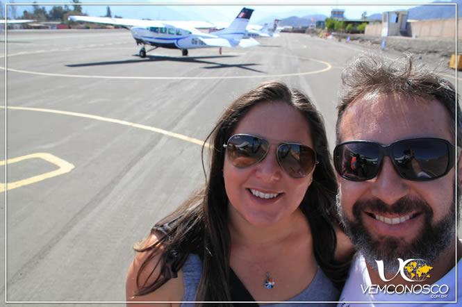 À espera do nosso avião para ver as Linhas de Nazca