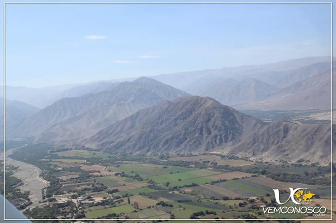 Vales férteis graças a irrigação desenvolvida pelos Nazcas
