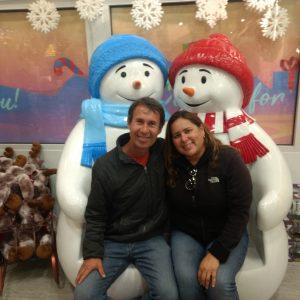 Na casa do Papai Noel em North Pole