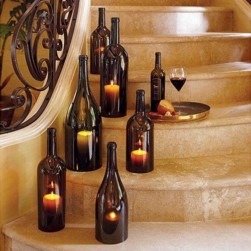 artesanato com garrafa de vinho