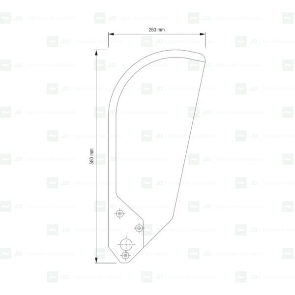 Escamas rígidas compatibles con máquinas de vendimiar Gregoire G140 SW.