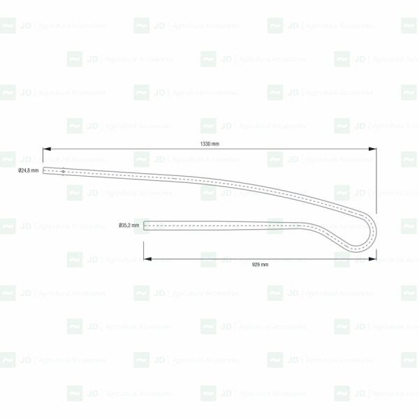 GRE-25-L. Bastón / Sacudidor adaptable a vendimiadoras Gregoire: G8, G132, G152, G120, G122, G170. Adaptable a: 265416, 265298, 265617, 265563, 265615