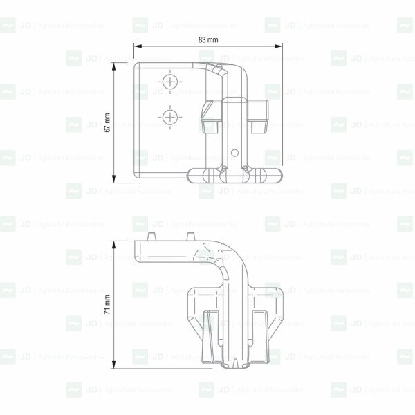 Articulaciones para escamas compatibles con máquinas de vendimiar Pellenc Serie 4000 (Optimum)