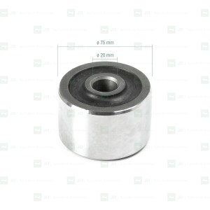Silentblock elíptico ø 20 × ø 75 × 50 mm. Adaptable a Gregoire (386655)