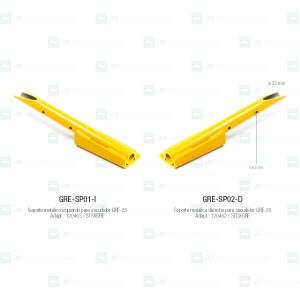 Soportes metálicos para sacudidores Gregoire GRE-25 (ø 25 mm)