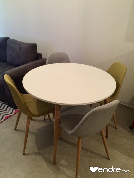 table chaises scandinave