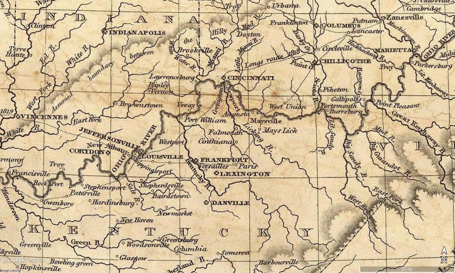 United States Historical Maps United States Genealogy History - 1823 us map