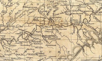 Maps Of The Bluegrass And Nashville Basin Venerable Trees - Map of us in 1823