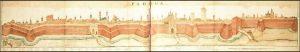 le mura di Padova costruitenuovamente dopo la guerra di Cambrai che aveva visto gli imperiali conquistare la città.