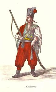 CRABINIERO guardia del corpo di Morosini