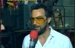Mauro Ferrucci nel backstage del festivalbar 98