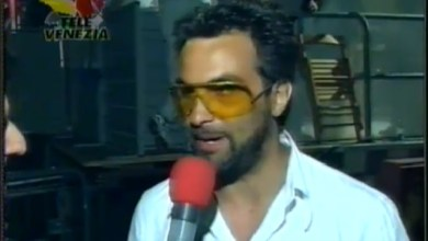 Photo of Mauro Ferrucci nel backstage del festivalbar 98