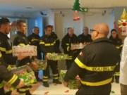 Befana dei Pompieri: visita ai bambini ricoverati in pediatria a Mestre