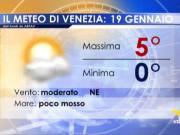 Meteo Venezia: previsioni sabato 19 gennaio 2019