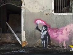 Banksy riconosce il murales di Rio Novo