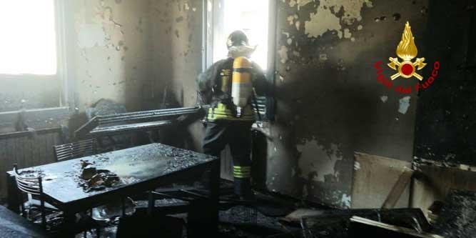 Incendio di un appartamento di Via Oslavia