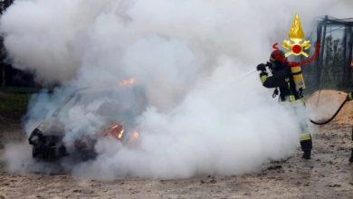 Concordia Sagittaria: auto divorata dalle fiamme